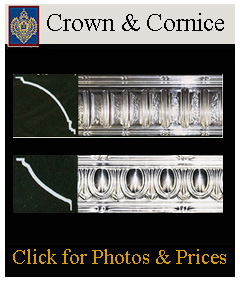 Beautiful selection of tin crowns and cornices