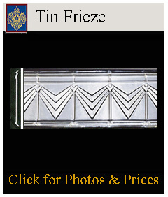 decorate your walls with tin frieze